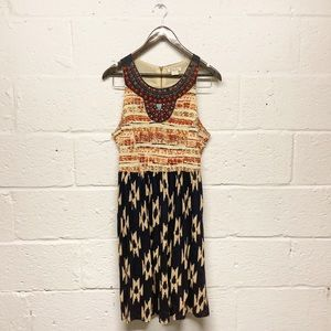 SALE Lucky Brand Beaded Ikat Southwestern Dress
